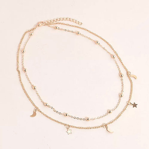 Moon & Star Necklace Choker