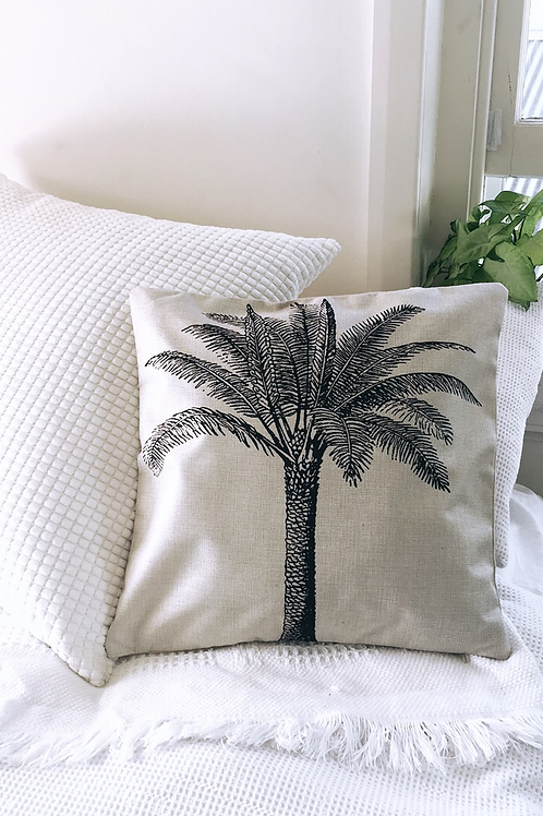 Single Palm Tree Pillow Case
