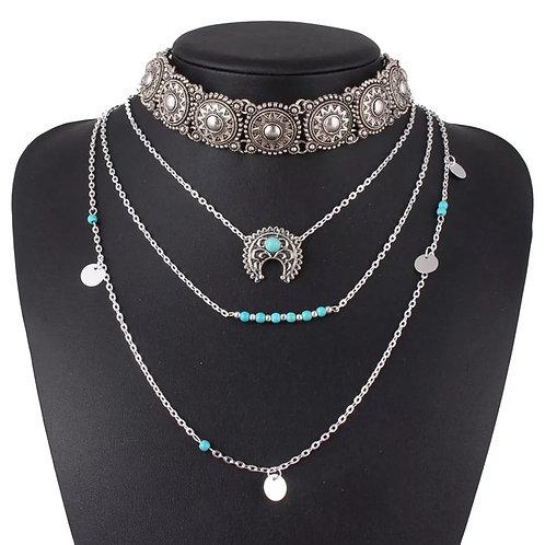 Triple Deck Boho Necklace