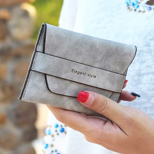 Grey Elegant Wallet Pouch