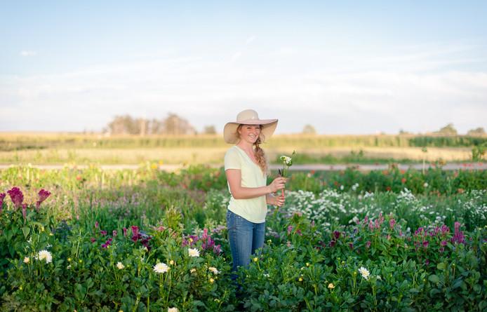 Me in My First Flower Field, Photo Credit: Kira Ellen Photography