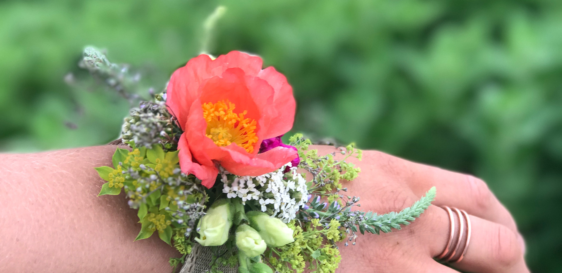 Corsage, Orin and Nora's Wedding, June 2017