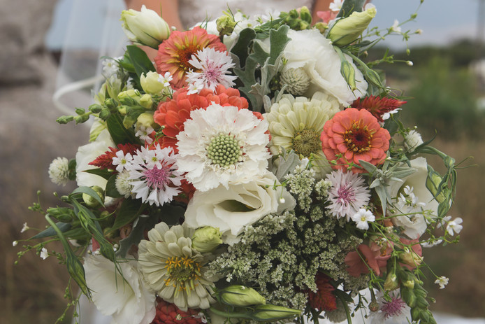 Chelsi's Classic Wedding Bouquet Photo Credit: Wild Lavender Photography