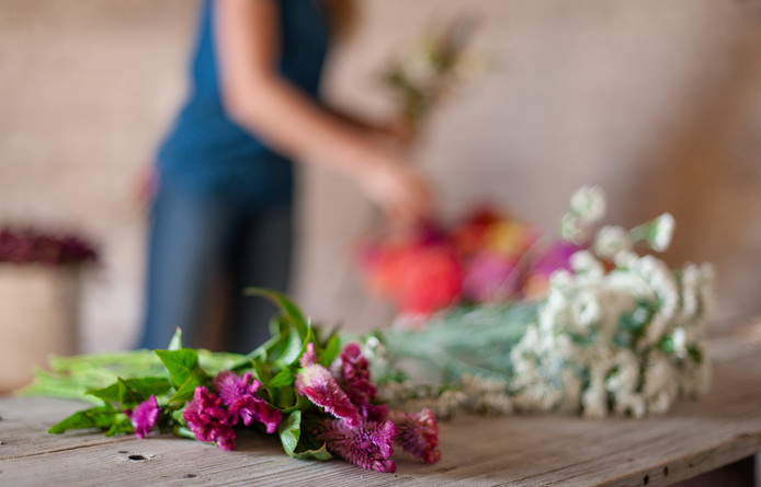 Making Bouquets, Photo Credit: Kira Ellen Photography