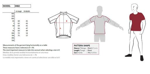 Size Chart Jersey Cycling