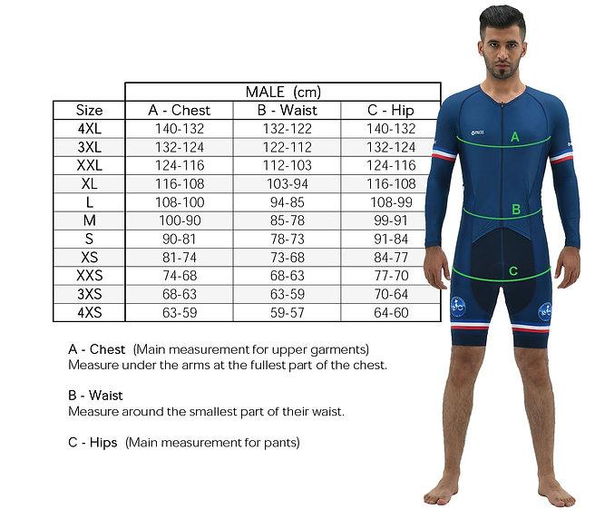 Body Measurement for Man