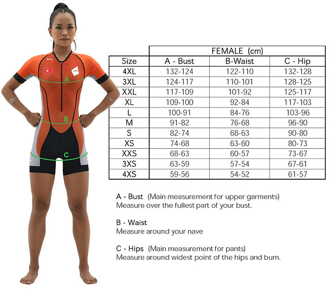 Body Measurement for Woman
