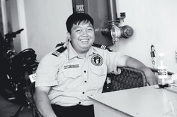 Smiling Security guy