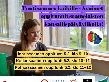 Tunti saamea kaikille – Osallistu avoimille saamen kielten etätunneille!