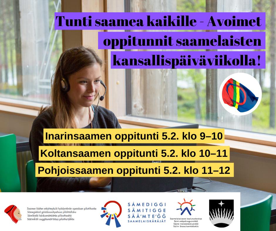 Tunti saamea kaikille - Avoimet oppitunnit saamelaisten kansallispäiväviikolla!