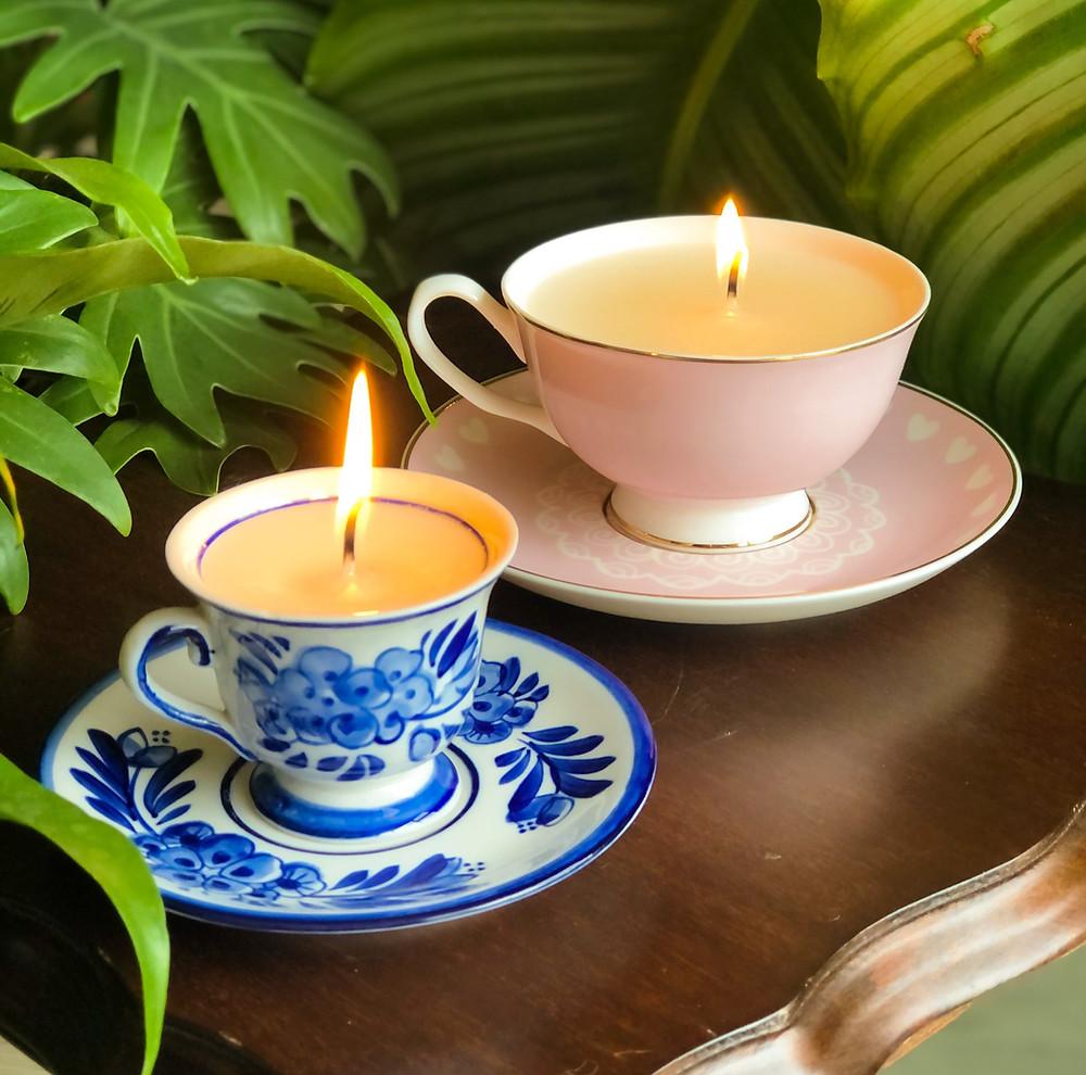 DIY idee zelf kaarsen maken doe het zelf idee, kaars in kopje