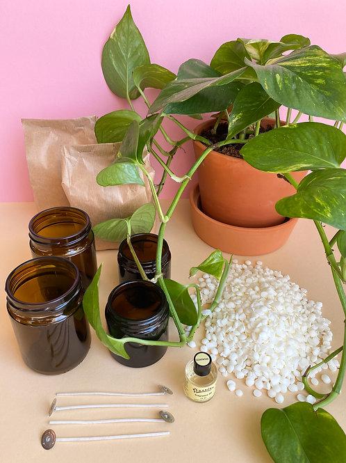 DIY Pakket Geur kaarsen Maken - Amber glas