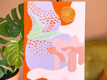 DIY idee: Borduren op een schilderij