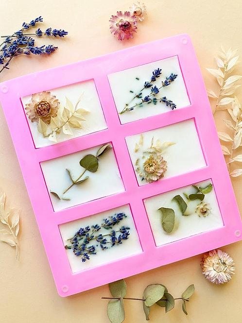 Pakket zelf zeep maken - droogbloemen