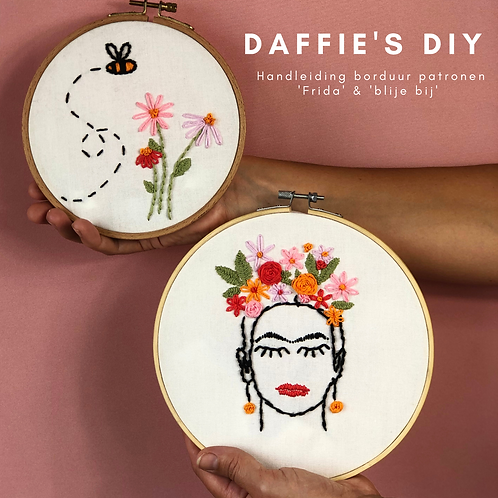 Frida Kahlo & Blije bij patroon
