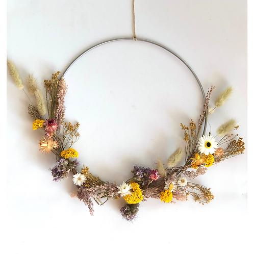 DIY pakket droogbloemen krans maken