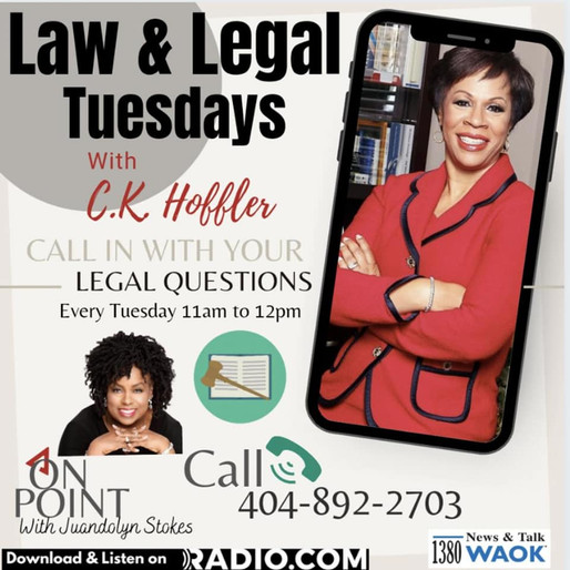 Tune in to Law & Legal Tuesdays with CK Hoffler