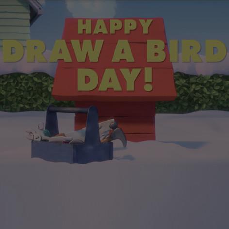 FOX // PEANUTS // DRAW A BIRD DAY