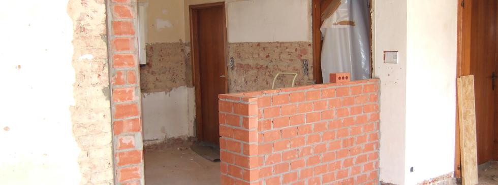 Villa Waregem (tijdens de werken)