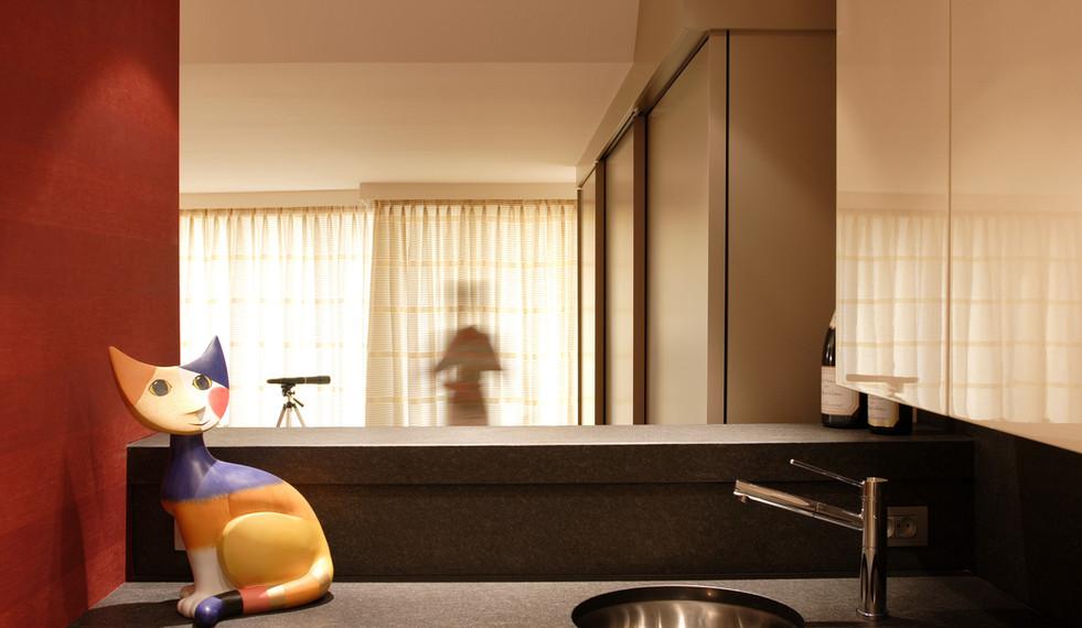 Keuken met kleuraccent