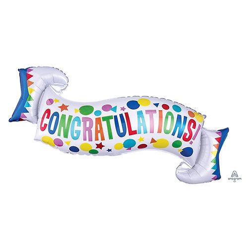 """30"""" Congratulations Banner Helium Balloon- y91"""