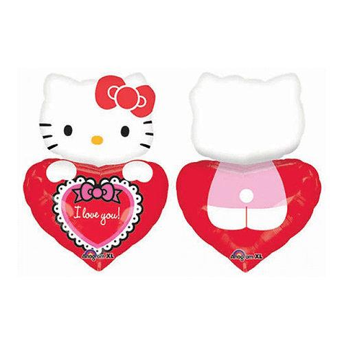 """30"""" Hello Kitty Full Body with Heart Helium Balloon - k06"""