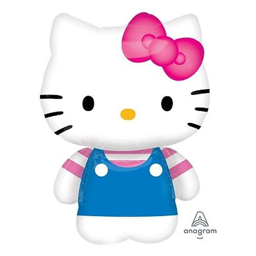 """30"""" Hello Kitty Full Body Stripes Pattern Helium Balloon - k05"""