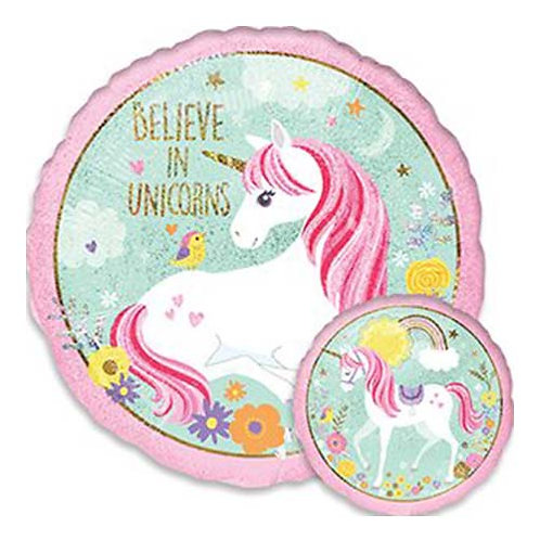 "18"" Believe in Unicorn 2-sides Helium Balloon - z56"