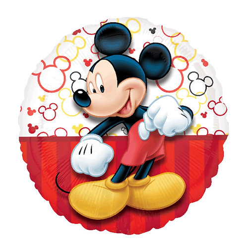 "18"" Mickey Mouse with Mickey Head Pattern Helium Balloon - m27"