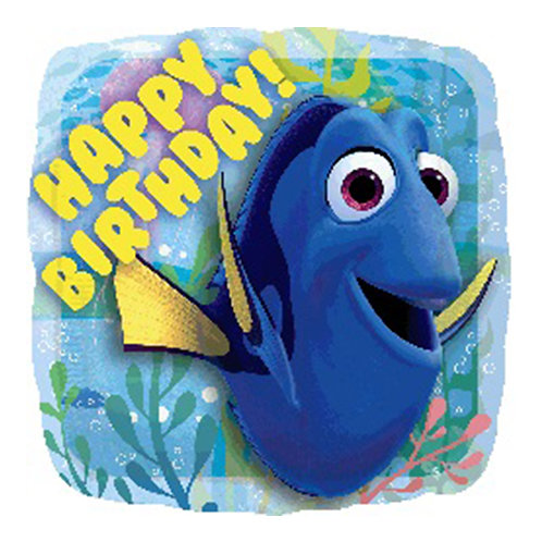 """18"""" Square Shape Dory HBD Helium Balloon - y03"""