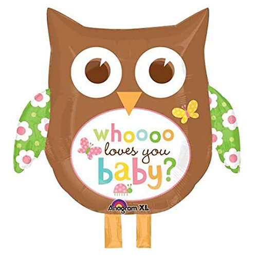 "24"" Baby Owl Helium Balloon - z01"
