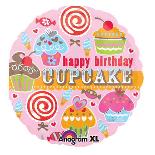 "18"" Variety Cupcakes HBD Helium Balloon - hb21"