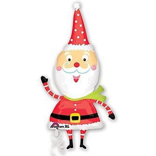 "30"" Cartoon Santa Claus Christmas Helium Balloon - x10"