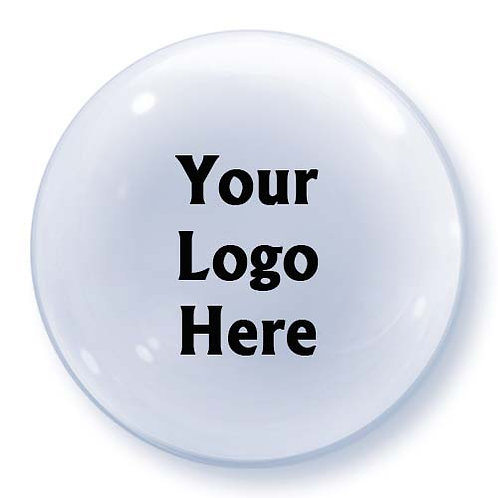 "22"" Bubble Advertising Logo Print Balloon - min.10pc"