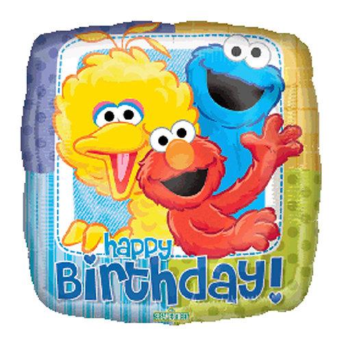 "18"" Square Shape Sesame Street HBD Helium Balloon - y37"