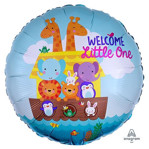 """18"""" Noah's Ark 1st Birthday Helium Balloon - f09"""