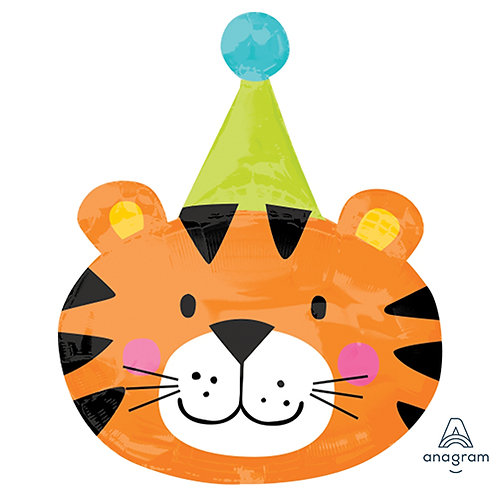 "24"" Tiger Party Head Helium Balloon - z20"