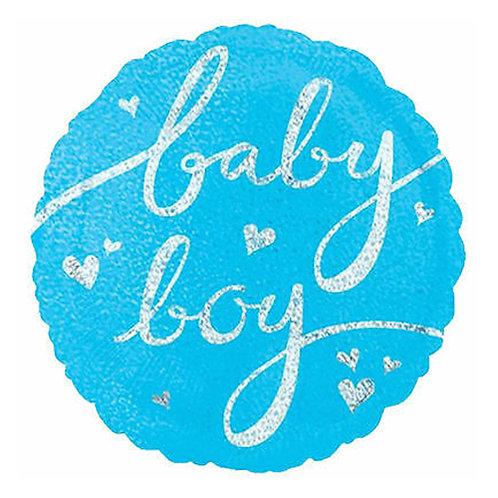 "18"" Baby Boy Twinkling Helium Balloon - bb24"