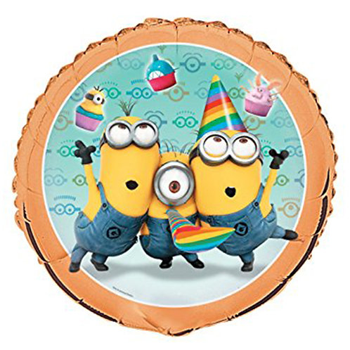 "18"" 3 Minions Let's Go Party Helium Balloon - y50"