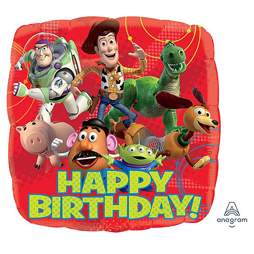 "18"" Square Shape Toy Story Family HBD Helium Balloon - t09"