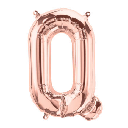 "16"" Rose Gold Letter Balloon Q - 16RGQ"