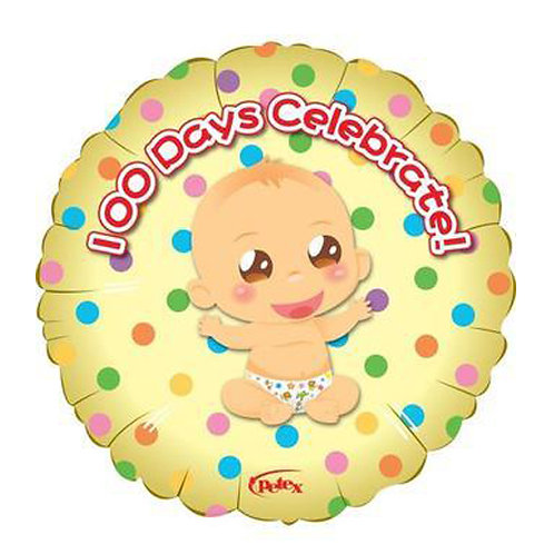 "18"" Baby 100 Days Celebration Cute Baby Helium Balloon - bb59"