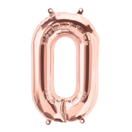 "16"" Rose Gold Letter Balloon O - 16RGO"