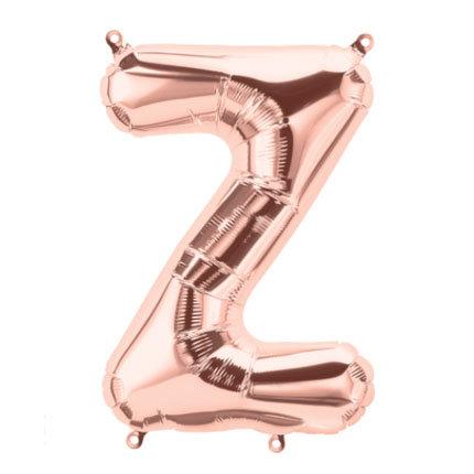 """16"""" Rose Gold Letter Balloon Z - 16RGZ"""