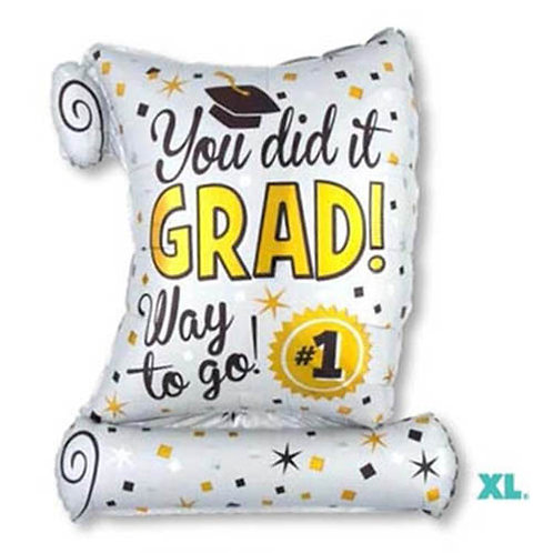 "40"" Certificate Shape Graduation Helium Balloon - e13"