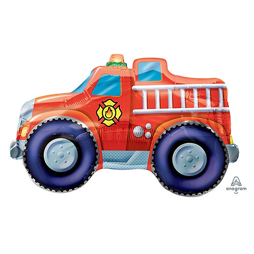 """30"""" Red Fire Truck Helium Balloon - y01"""