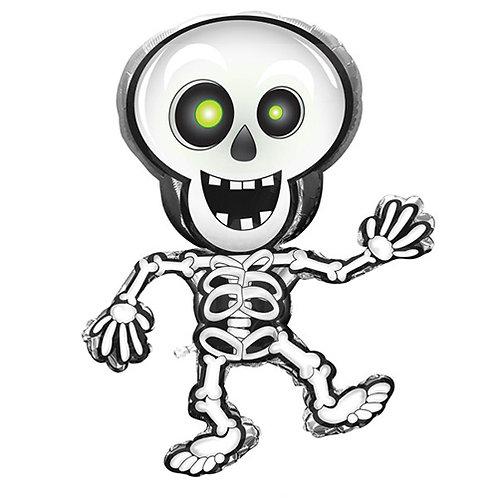 """33"""" Cartoon Skeleton Halloween Helium Balloon - hw11"""
