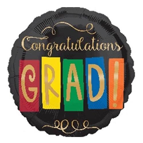 """18"""" Congratuations GRAD Helium Balloon - e12"""