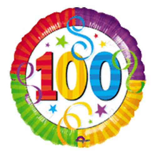 """18"""" 100 Party Number Helium Balloon - num12"""