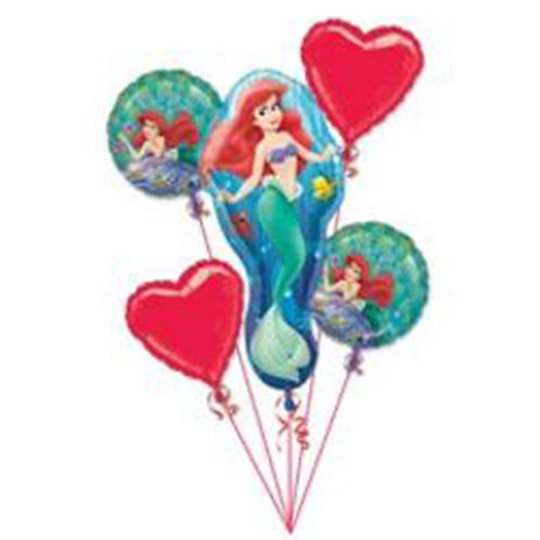 Princess Ariel Helium Balloon Bouquet - bq13